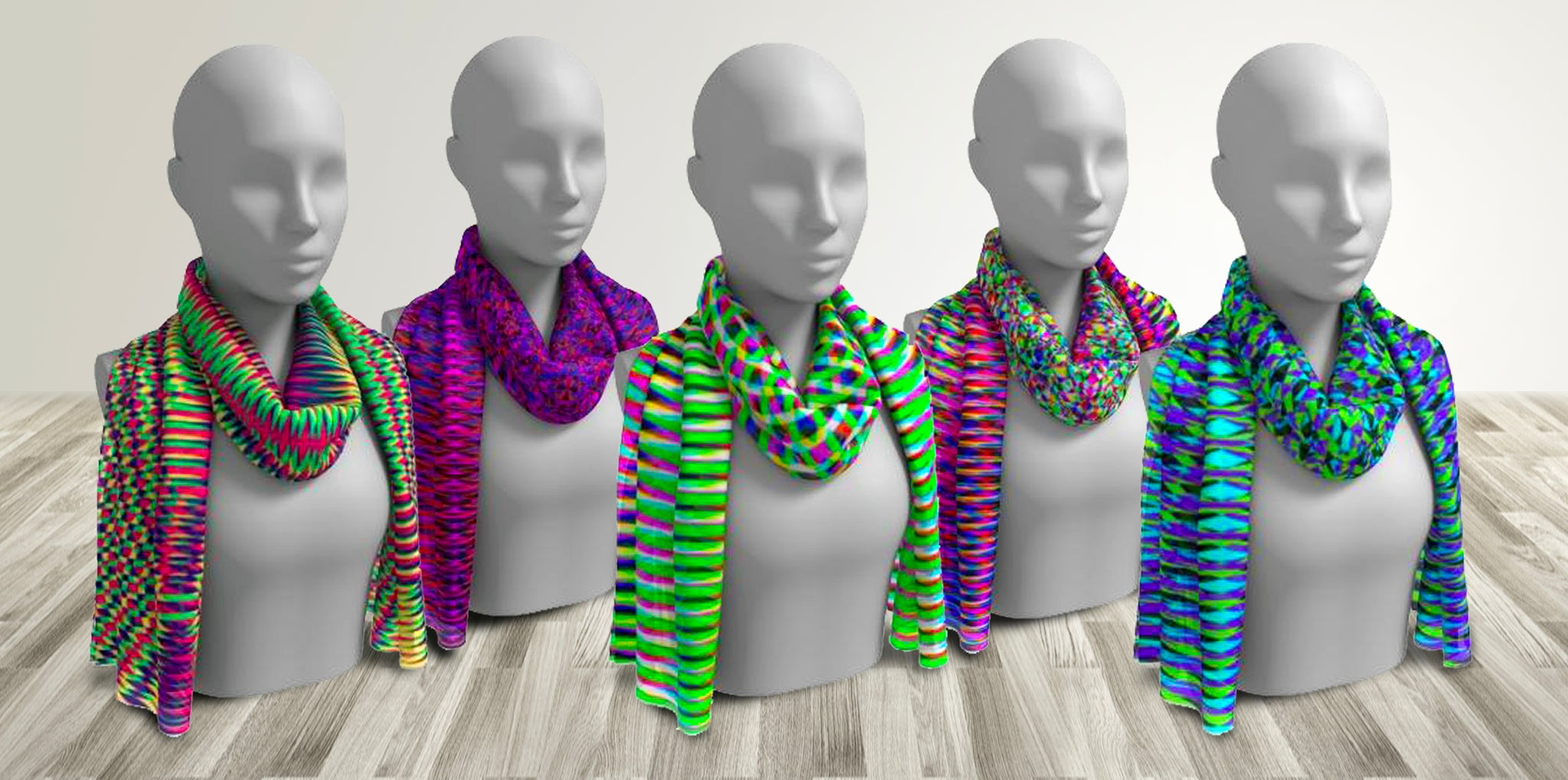 GEOMETRIC RESONANCE SCARVES