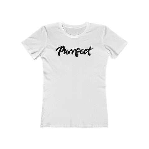 Purrfect . Black . Women's The Boyfriend Tee