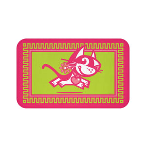 Betty Bad Kitty III . Large Bath Mat