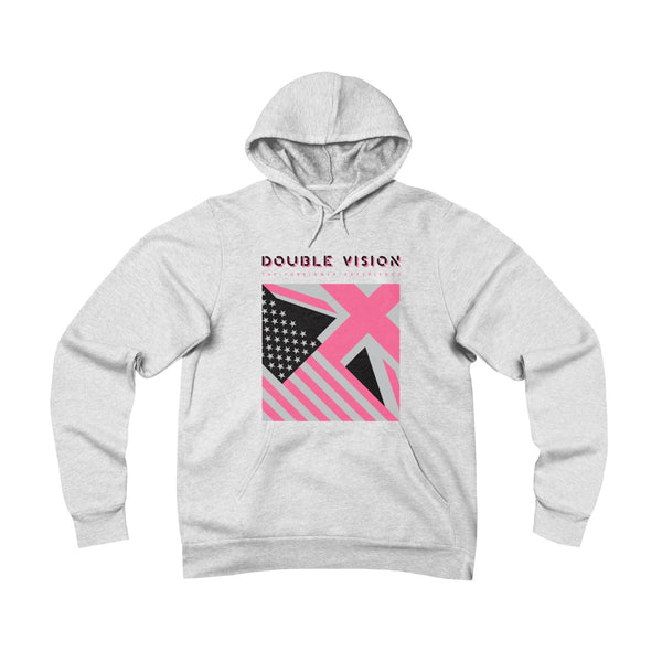 Double Vision . Pink On Light . Unisex Sponge Fleece Pullover Hoodie