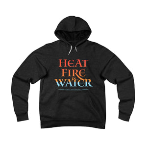 Heat Fire In Water . Unisex Sponge Fleece Pullover Hoodie