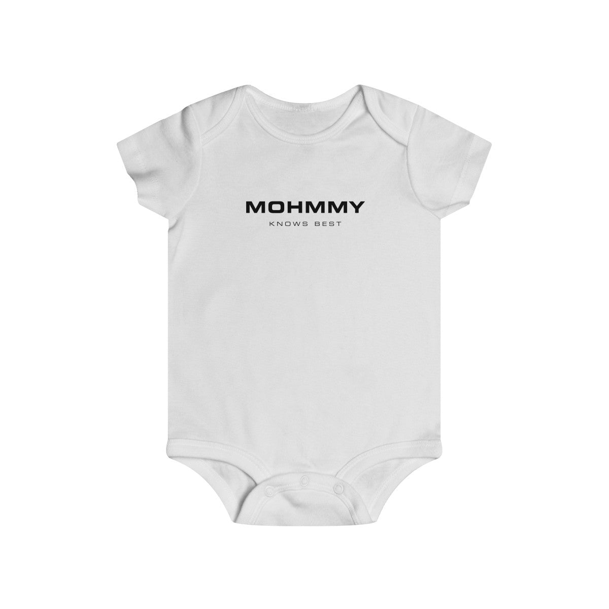 MOHMMY . Mohmmy Know Best . Black Print . Infant Rip Snap Tee