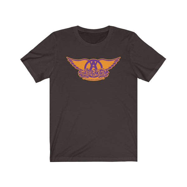 Sweet Emotion . Purple On Orange Logo . Unisex Cotton Tee