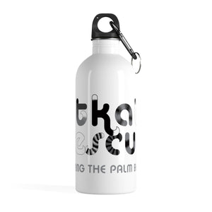 KitKats Rescue . Grayscale Logo . Stainless Steel Water Bottle