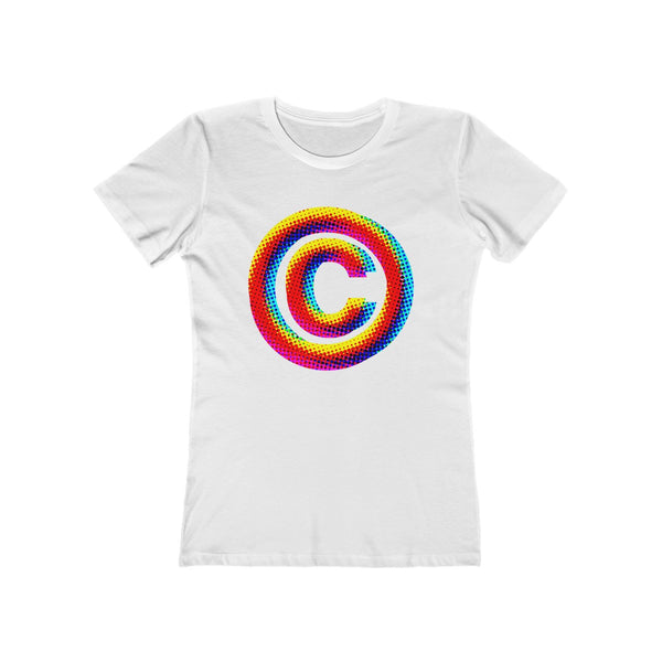 Copyright Symbol . Women's The Boyfriend Tee
