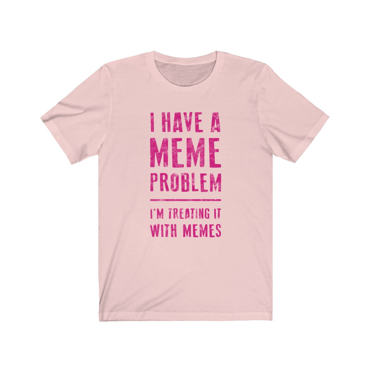 Meme Problem . Magenta Print . Unisex Cotton Tee