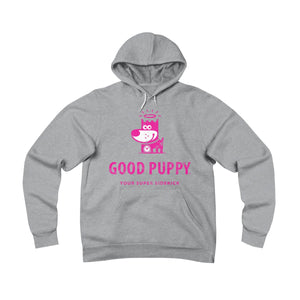 GOOD PUPPY . Your Super Sidekick  . Magenta Print . Unisex Sponge Fleece Pullover Hoodie