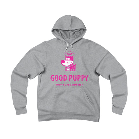 Your Super Sidekick  . Magenta Print . Unisex Sponge Fleece Pullover Hoodie