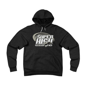 Super High . Gray Print . Unisex Sponge Fleece Pullover Hoodie