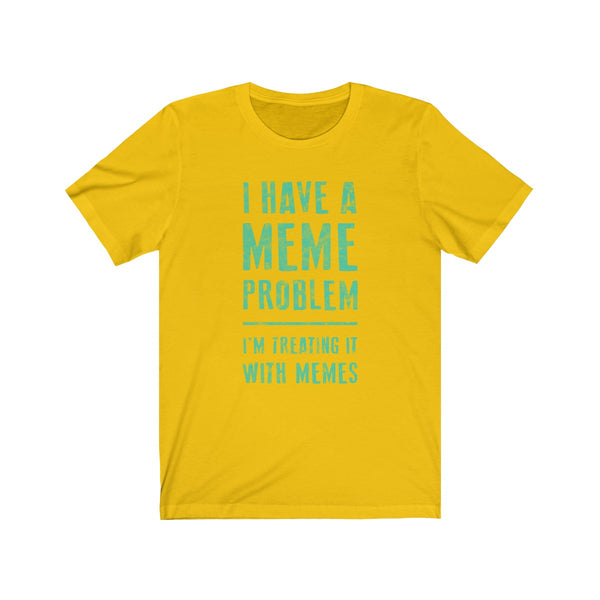 Meme Problem . Mint Print . Unisex Cotton Tee