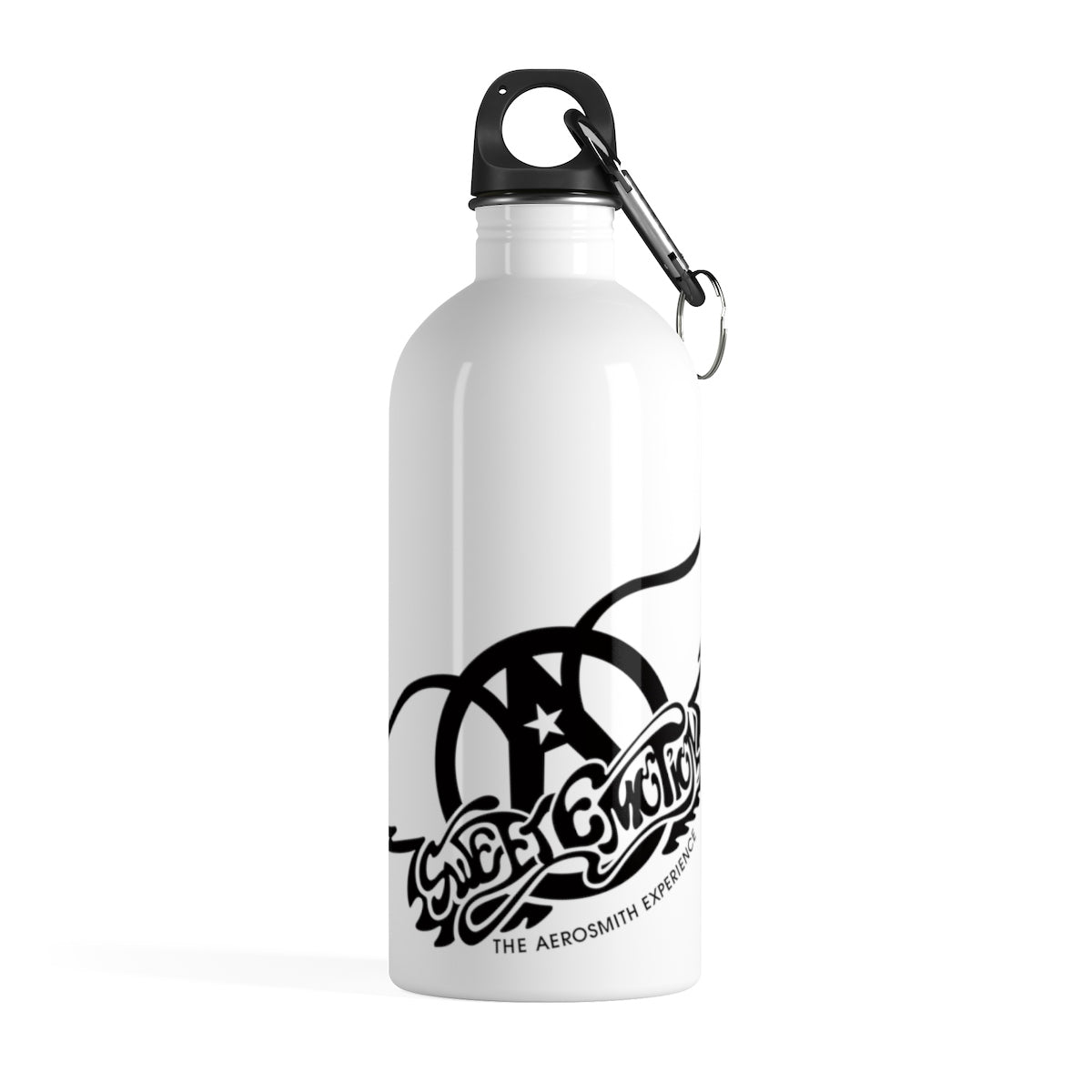 Sweet Emotion . Black Logo . Stainless Steel Water Bottle