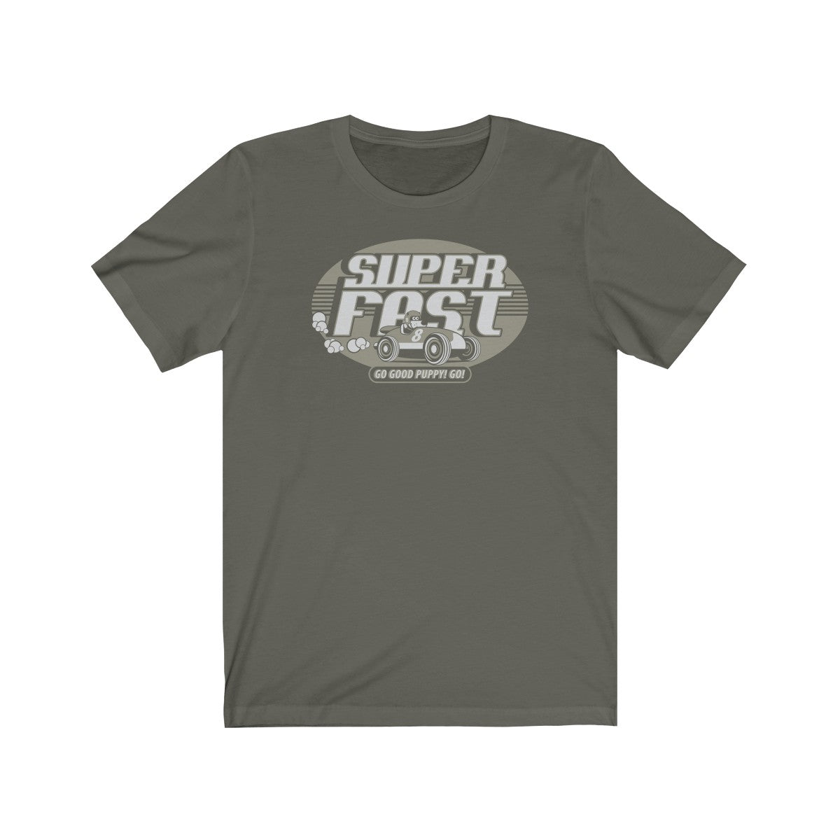 Super Fast . Gray Print . Unisex Cotton Tee