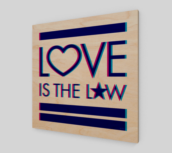 GEORGE'S DRAGON . Love Is The Law . Wood Print