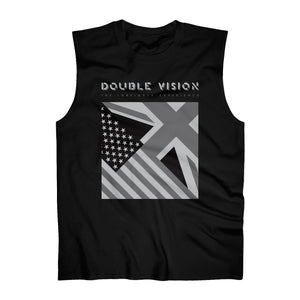 Double Vision . Black on Dark . Men's Ultra Cotton Sleeveless Tank