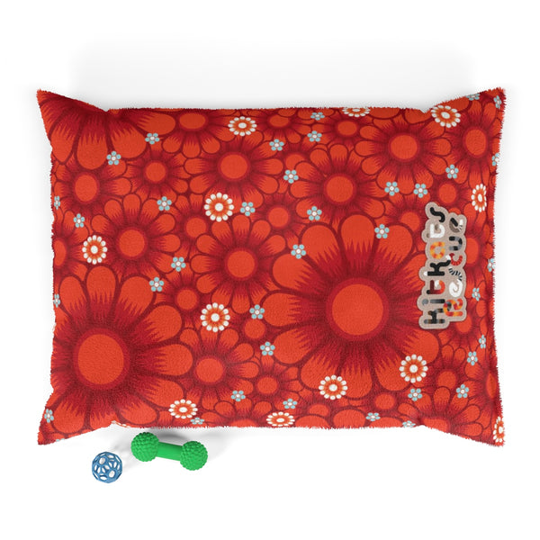 KitKats Rescue . Red Flower Bed . Pet Bed