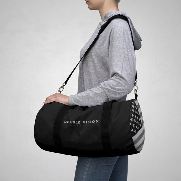 Double Vision . Gray & Black . Duffel Bag