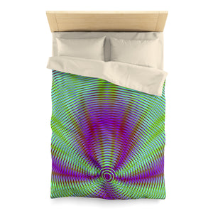 Purple Flame . Duvet Cover . Twin