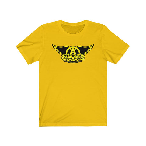 Sweet Emotion . Yellow On Black Logo . Unisex Cotton Tee
