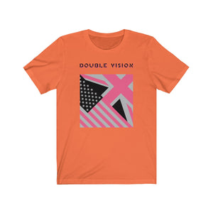 Double Vision . Pink On Light . Unisex Cotton Tee