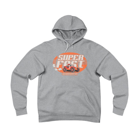 Super Fast . Orange Print . Unisex Sponge Fleece Pullover Hoodie