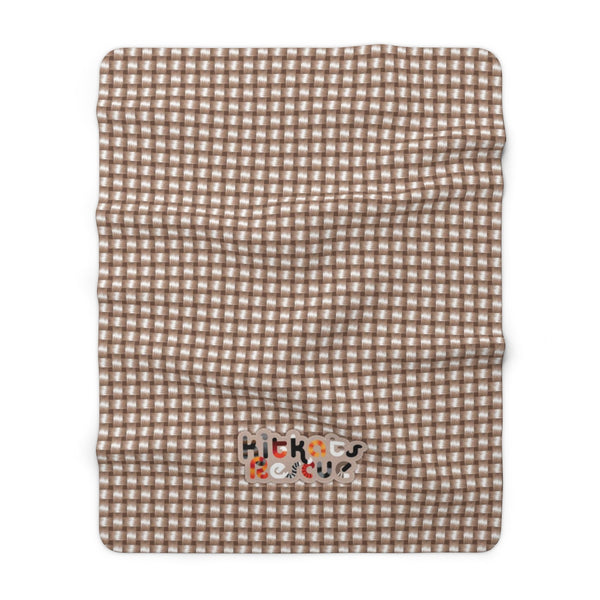 KitKats Rescue . Taupe Weave . Sherpa Fleece Blanket