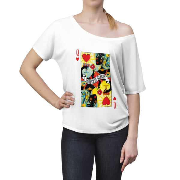 Queen Of Hearts . Women's Slouchy top