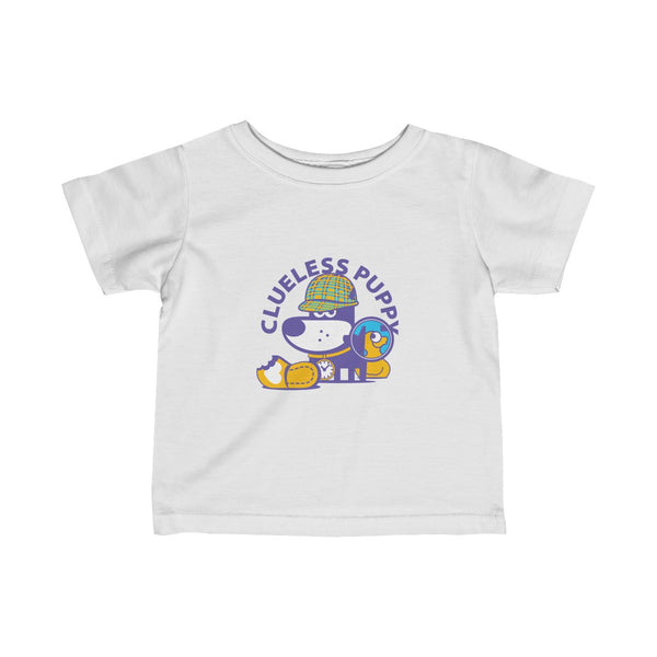 Clueless Puppy II . Infant Fine Jersey Tee