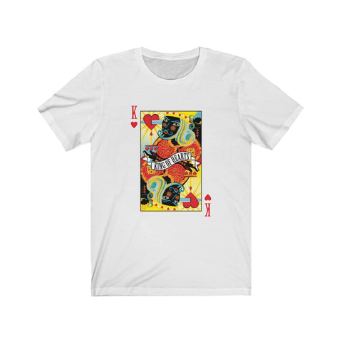GEORGE'S DRAGON . Stack The Deck . King Of Hearts . Unisex Jersey Short Sleeve Tee