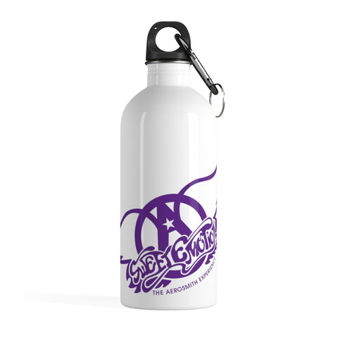 Sweet Emotion . Purple Logo . Stainless Steel Water Bottle