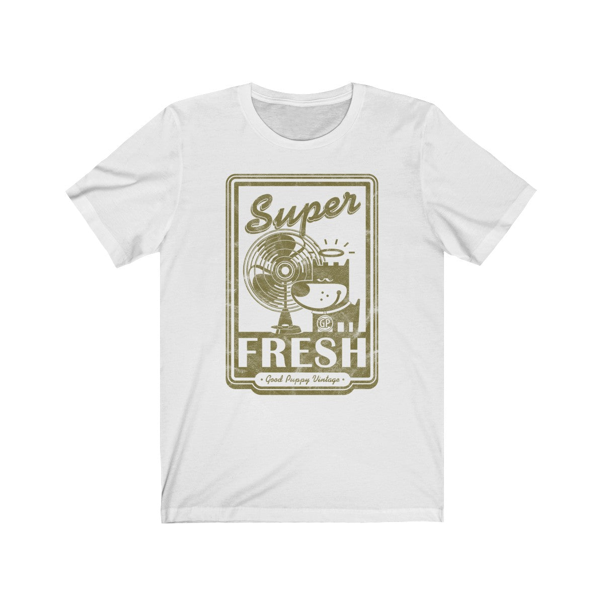 Unisex Tee, 100% Cotton, Super Fresh, Good Puppy Vintage