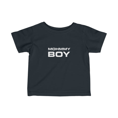 Mohmmy Boy . White Print . Infant Fine Jersey Tee