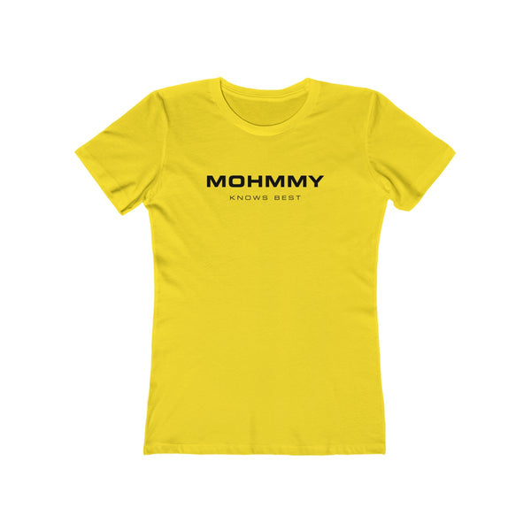 MOHMMY . Logo . Black Print . Women's The Boyfriend Tee