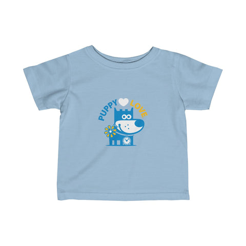 Puppy Love I . Infant Fine Jersey Tee
