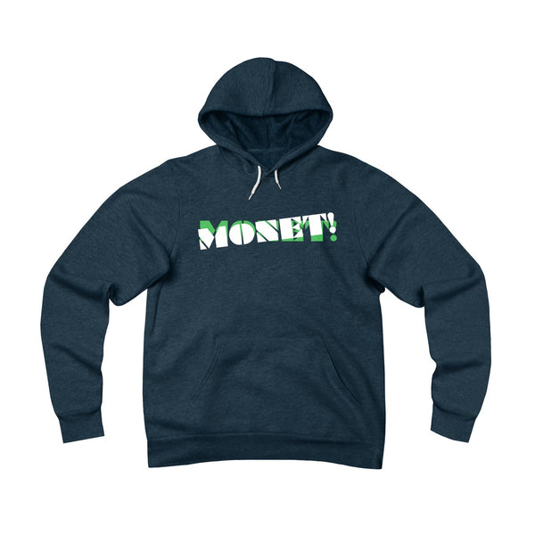 Monet . Green On Dark . Unisex Sponge Fleece Pullover Hoodie