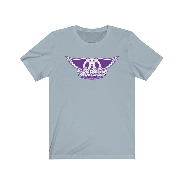 Sweet Emotion . White On Purple Logo . Unisex Cotton Tee