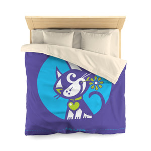 Betty Bad Kitty . Moon Flower II . Duvet Cover . Queen