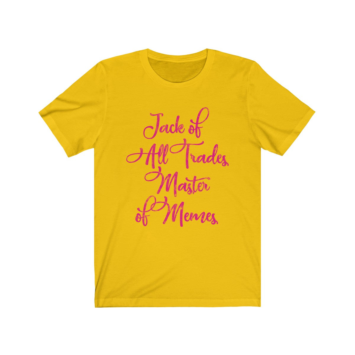 SACRED CLOWNS . Master Of Memes . Magenta Print . Unisex Jersey Short Sleeve Tee