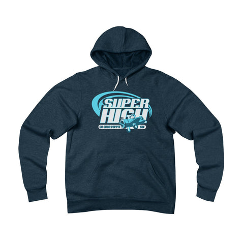 Super High . Blue Print . Unisex Sponge Fleece Pullover Hoodie