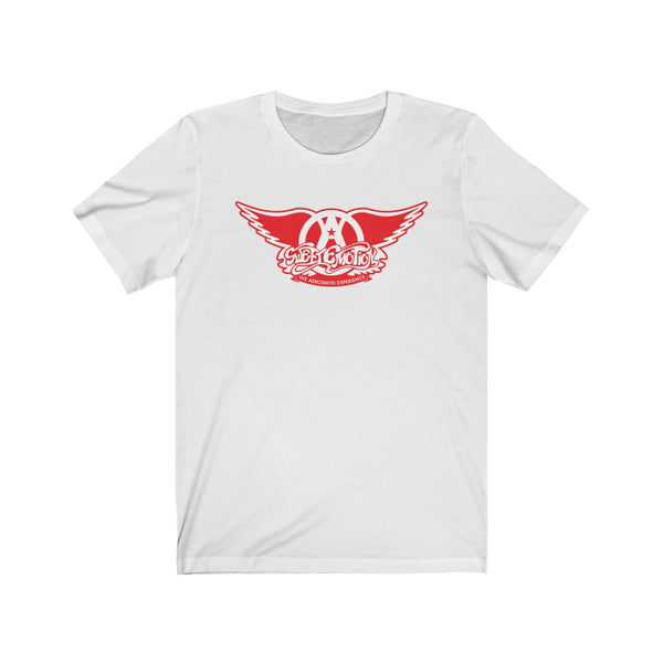 Sweet Emotion . White On Red Logo . Unisex Cotton Tee
