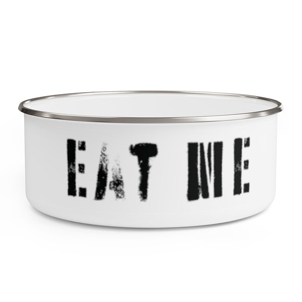 Eat Me . Stencil . Enamel Bowl