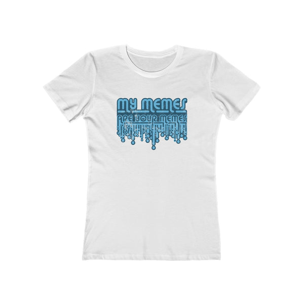SACRED CLOWNS . My Memes . Blue Print . Women's The Boyfriend Tee