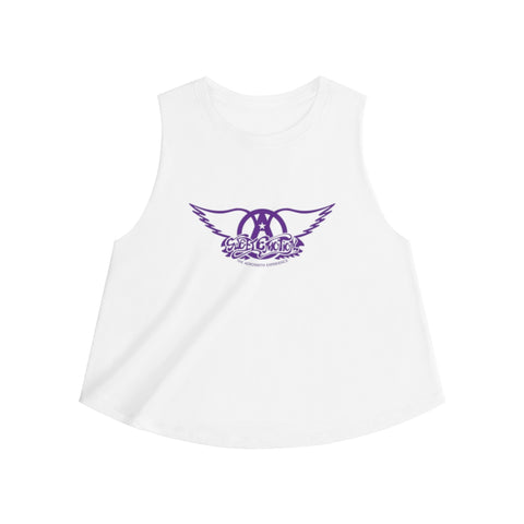 Sweet Emotion . Purple Logo . Women's Crop Top
