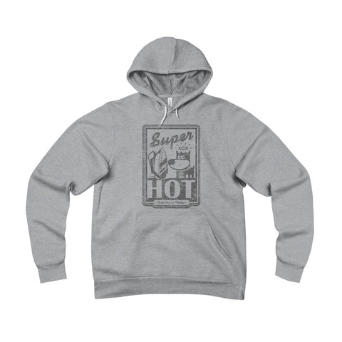 Super Hot . Gray Print . Unisex Sponge Fleece Pullover Hoodie