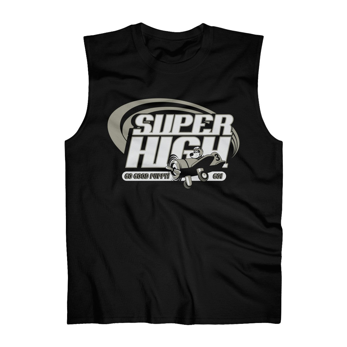 Super High . Gray Print . Men's Ultra Cotton Sleeveless Tank