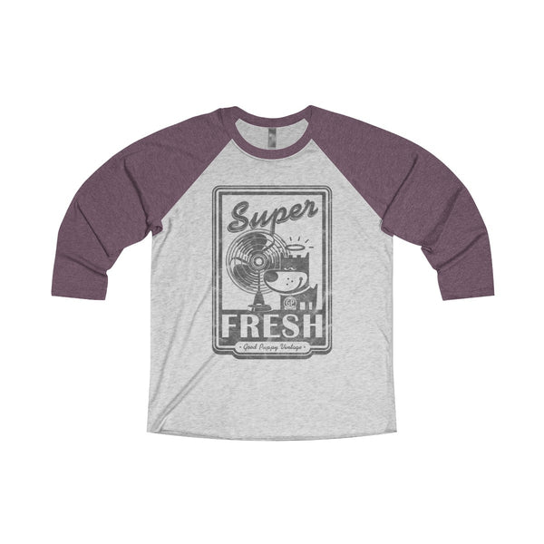 3/4 Raglan Tee, Unique T-Shirt, Super Fresh, Good Puppy Vintage