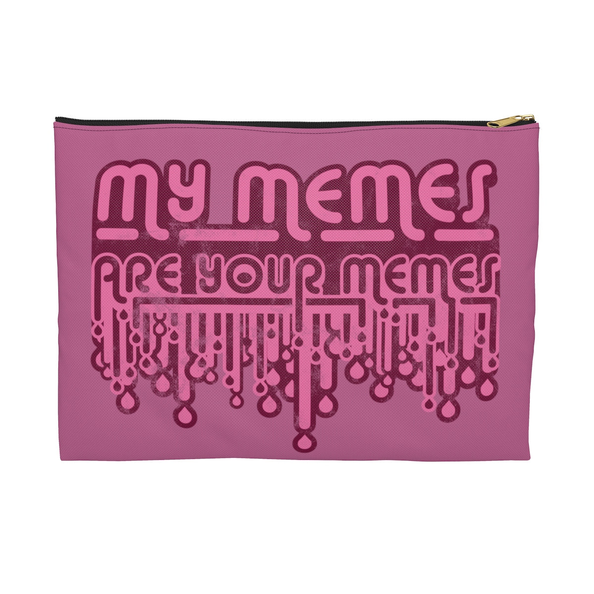 My Memes . Pink Print II . Accessory Pouch