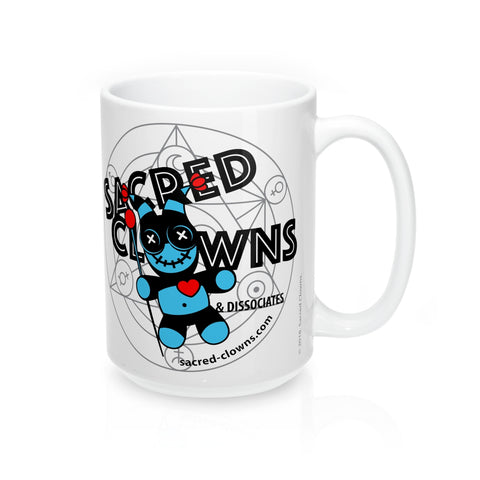 SACRED-CLOWNS . Logo . Mug 15oz . White