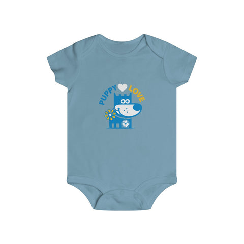Puppy Love I . Infant Rip Snap Tee