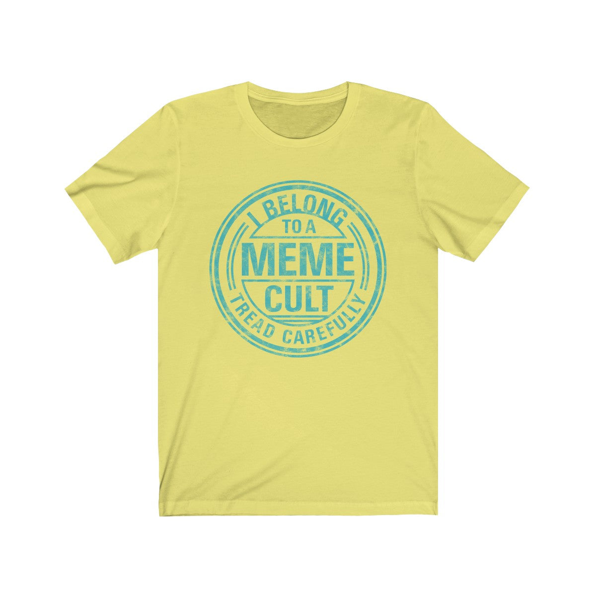 SACRED CLOWNS . Meme Cult . Turquoise Print . Unisex Jersey Short Sleeve Tee