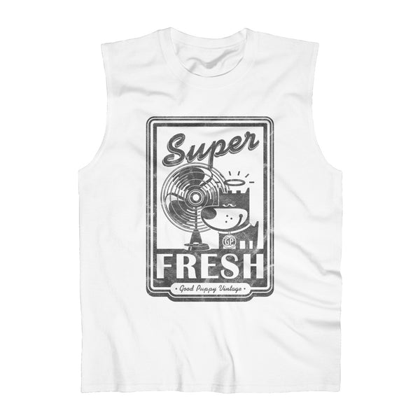 Unique Men's Tank Top, 100% Cotton, Super Fresh, Good Puppy Vintage